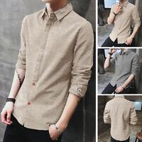 INCERUN Men's Long Sleeve Collar Shirt Formal Causal Button Down T Shirt Blouse
