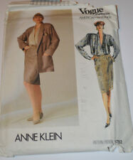 sewing pattern jacket long skirt & blouse Anne klein for Vogue