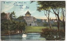 Wigan; Lake & Pavilion PPC, 1905 PMK , To Mrs Doulcet, Rue Des Martyrs, Paris