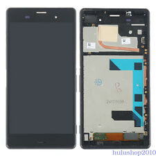 "5.2"" For Sony Xperia Z3 D6653 D6603 LCD Screen Touch Digitizer Frame Part Black"