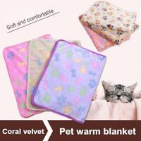 accueil chat chien chiot coral velvet pet couverture chien amortir mat toison