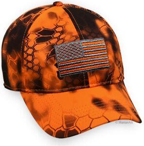 Kryptek® Inferno™ American Flag Moisture Wicking Cap