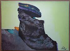 """Gilou Brillant tableau abstrait signé titré """"L'ombre des jours"""" - Superbe"""