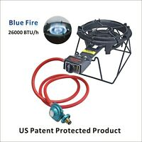 26,000 BTU Outdoor Cast-Iron Propane Burner Stove Gas Camping Stove with Stand
