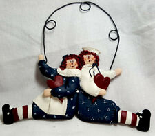 Raggedy Ann & Andy Sitting Wall Plaque Gail West Catherin Lillywhite New