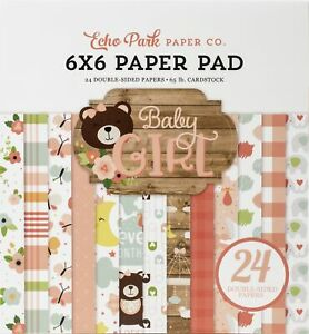 """Echo Park Double-Sided Paper Pad 6""""X6"""" 24/Pkg-Baby Girl"""
