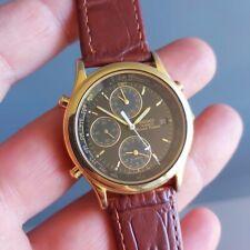 1990s Seiko World Timer Vintage Quartz alarm GMT 5T52-6A39 mens @WatchAdoption