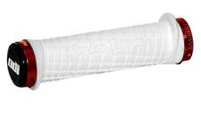 ODI TROY LEE DESIGNS TLD RED WHITE LOCK-ON MOUNTAIN BIKE GRIPS MTB DH XC BIKE FR