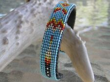"GORGEOUS Handmade Beaded Bracelet ""Great Design"" Navajo Indian Dwight Nathaniel"