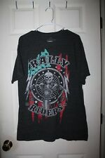 "Helix--Men's Polyester/Cotton/Rayon Short Sleeve ""Rally Riders"" T-Shirt--XL"
