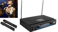 Karaoke DJ Profesional Inalambrico 2 Canales 2 Microfonos Wireless VHF DUAL 4245