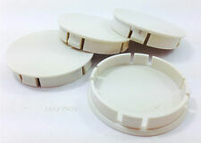 wheel center hub centre caps set 4 pcs 60mm white plain RENAULT PEUGEOT CITROEN