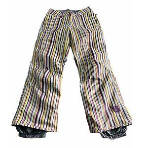 Burton Ski Pants XS Insulated Downtown Striped Multicolor