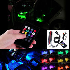 Car Universal 12 LED Interior Remote Light Music Control Multi-color Decor Lamp