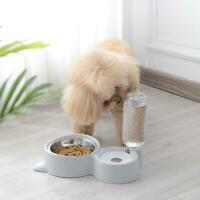 Pet Water Fountain For Cat Dog Automatic Food Bowl Dish Feeder Dispenser 2 in 1