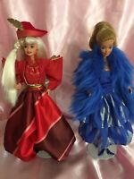 Set Of 1980 / 1990s Barbies  In Oscar De La Renta Fashions