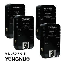 4 x YongnuoYN622N II Wireless Flash I-TTL Trigger for Nikon Camera UK