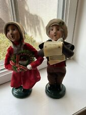 Set of 2 beautiful Byers Choice Victorian Children carolers signed and numbered