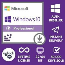 INSTANT DELIVERY WINDOWS 10 PRO PROFESSIONAL 32 /64 BIT ACTIVATION KEY