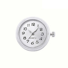 ANDANTE Silber UHR CHUNK Druckknopf Button für Chunks Armband Ring (Weiß) #4206