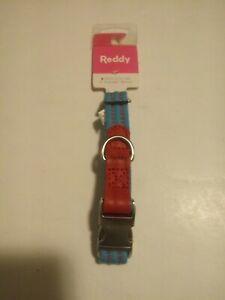 "Reddy Cerulean Blue Webbed Dog Collar, Size-S, 9-14"""
