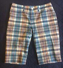 Ralph Lauren Light Cotton Summer Plaid Bermuda Shorts Size 10 NWT