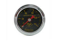 Liquid Filled Oil Pressure Gauge 0-15 psi - MIDNIGHT SILVER -Harley Davidson