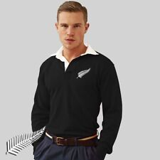 New Zealand All Blacks Retro style Rugby Shirt / Jersey with FREE back print
