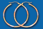 Gold Hoop Earrings Three Colour Gold Hoop Earrings Rose White and Yellow Gold