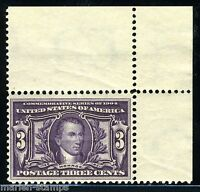 UNITED STATES 3c LOUISIANA PURCHASE  SC#325  FULL ORIGINAL GUM  MINT NH