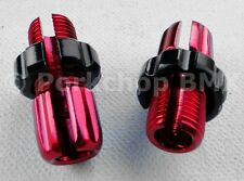 Dia-Compe M10 threaded bicycle brake lever barrel adjusters - PAIR - RED