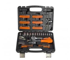 """ToolTronix 130pcs Ratchet Socket Set 1/4"""" DR Screwdriver Bits Hand Tools Kit"""