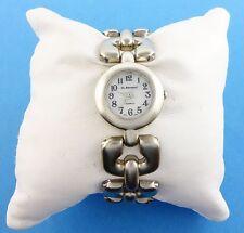St. Bernard Brushed Silvertone Bold Link Bracelet Watch