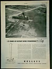 1944 KELLETT ROTARY WING HELICOPTER AAF WWII vintage Trade photo print ad