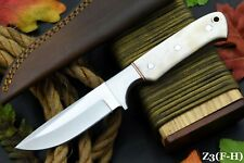Custom D2 Tool Steel Hunting Knife Handmade,Camel Bone Handle,No Damascus (Z3-G)