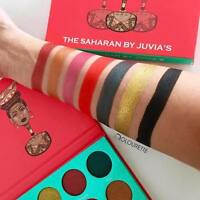 Juvias Place Saharan Eyeshadow Palette NEW Genuine Shimmer Blue Green Yellow Red