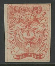 GN STAMPS- COLOMBIA-ANTIOQUIA, MINT, #4, HR, REPRINT, NICE CENTERING