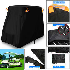300D Oxford Golf Cart Waterproof Dust Cover Fits 4 Passenger Vent Cover Roof