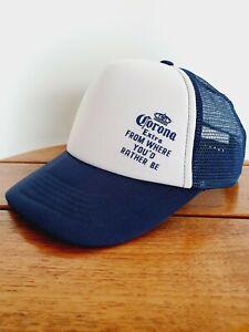 Corona Extra Blue White Snapback Cap Hat Snap Back Adult One Size