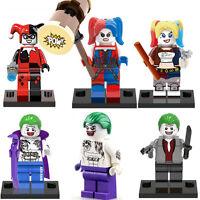 DC Minifigures Harley Quinn Joker Suicide Squad Mini Custom Figures Fits Lego