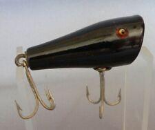 New listing Ex+ Creek Chub 5913 Solid Black Midget Plunker + Glass Eyes