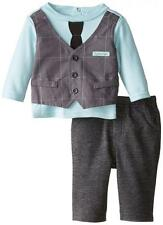 Calvin Klein Infant Boys Blue Attached Vest Top 2pc Pant Set Size 12M $44.50