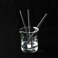 5x Glass Stirring Rods for Lab Use Stiring Stirrer Laboratory Transparent Tool
