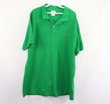 Lacoste Mens Size 8 2XL XXL Short Sleeve Casual Golfing Golf Polo Shirt Green