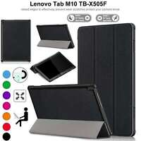 Case For Lenovo Tab M10 TB-X505 X605 Leather Magnetic Stand Book Smart Cover