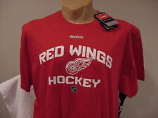 GORGEOUS Detroit Red Wings Hockey Youth Sz Md Red Reebok T-Shirt, NEW&NICE!