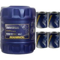 20L MANNOL Motoröl Universal 15W-40 API SG/CD Motorspülung Motor Flush