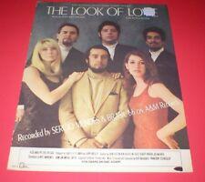Sheet Music~The Look Of Love~Burt Bacharach & Hal David~Voice/Piano/Guitar
