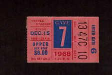 1968  NEW YORK GIANTS vs DALLAS COWBOYS  Ticket Stub