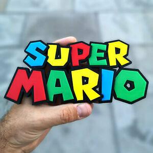 Super Mario 3D logo / shelf display / fridge magnet - gaming collectible
